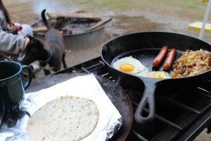 Cooking in a Campervan