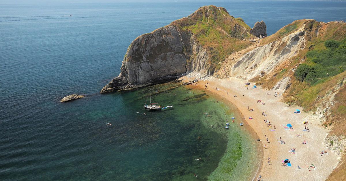 Man O'War beach in Dorset