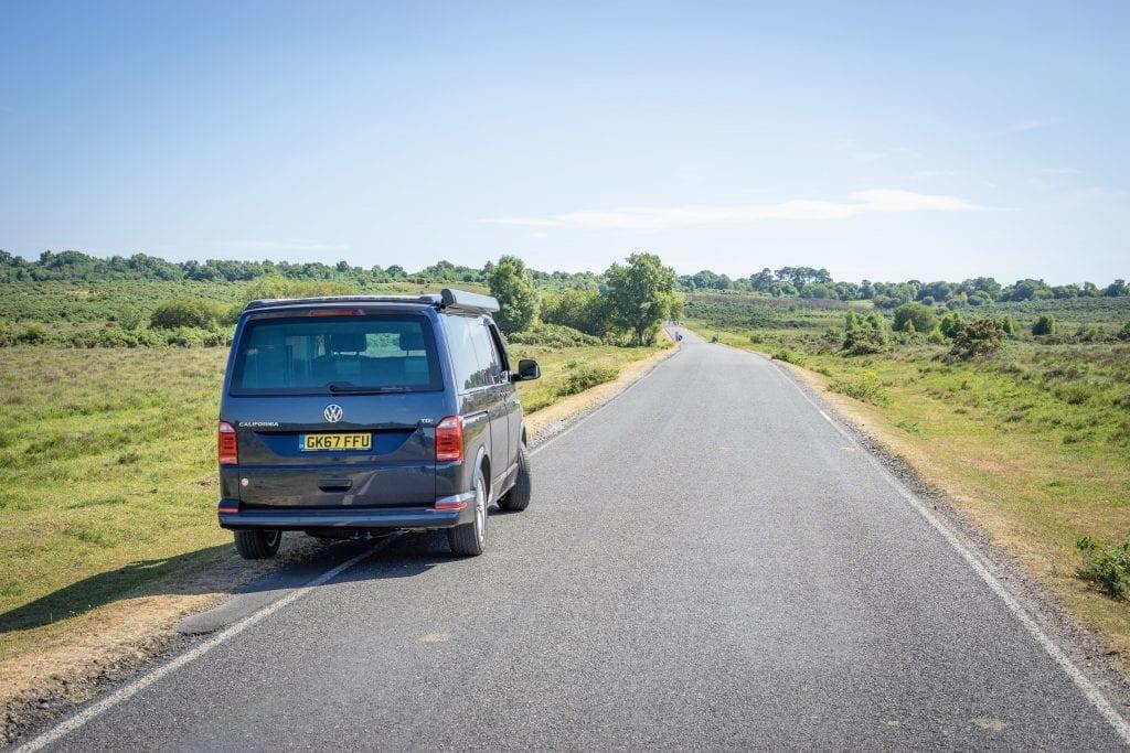 VW campervan hire in Dorset